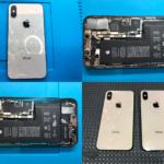 iPhone XS 背面ガラス割れ修理(つくば市内より来店)