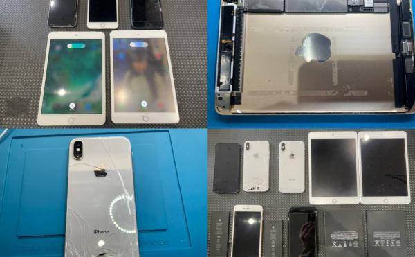 iPhone&iPad まとめて5台修理依頼(下妻市より来店)