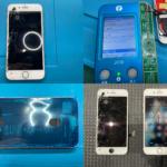 iPhone 8 画面割れ、表示不良(阿見町より来店)